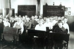 A classroom in progress in the Little School in May of 1921